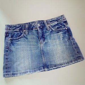 MISS ME DENIM MEDIUM WASH JEAN SKIRT